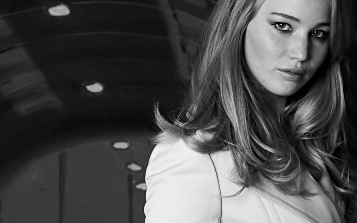 Black and White Wallpaper HD Jennifer-Lawrence-beautiful …