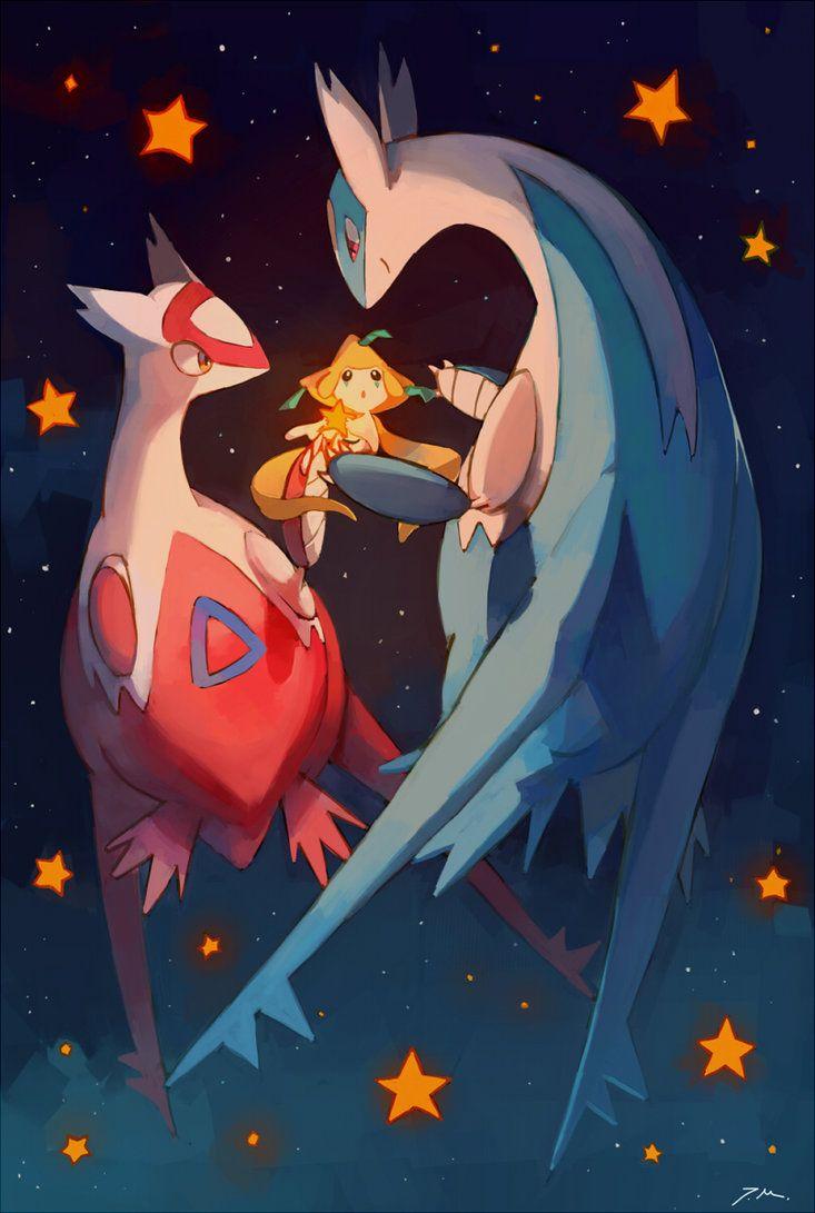 Eon dragons and Jirachi by bluekomadori on DeviantArt