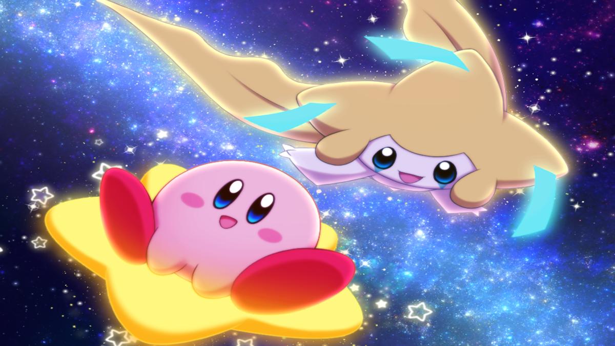 Two Stars Crossover Kirby Pokmon Jirachi Pokmon Video Game HD …