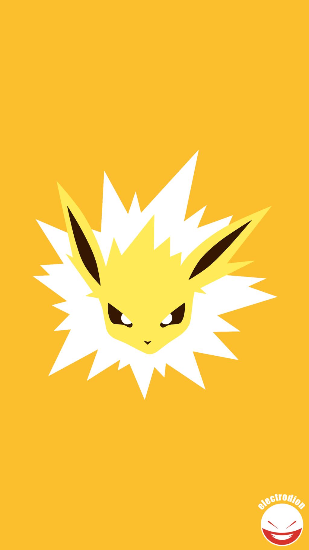 JOLTEON (Minimal Pokemon Art) Quad HD / QHD by electrodion on …
