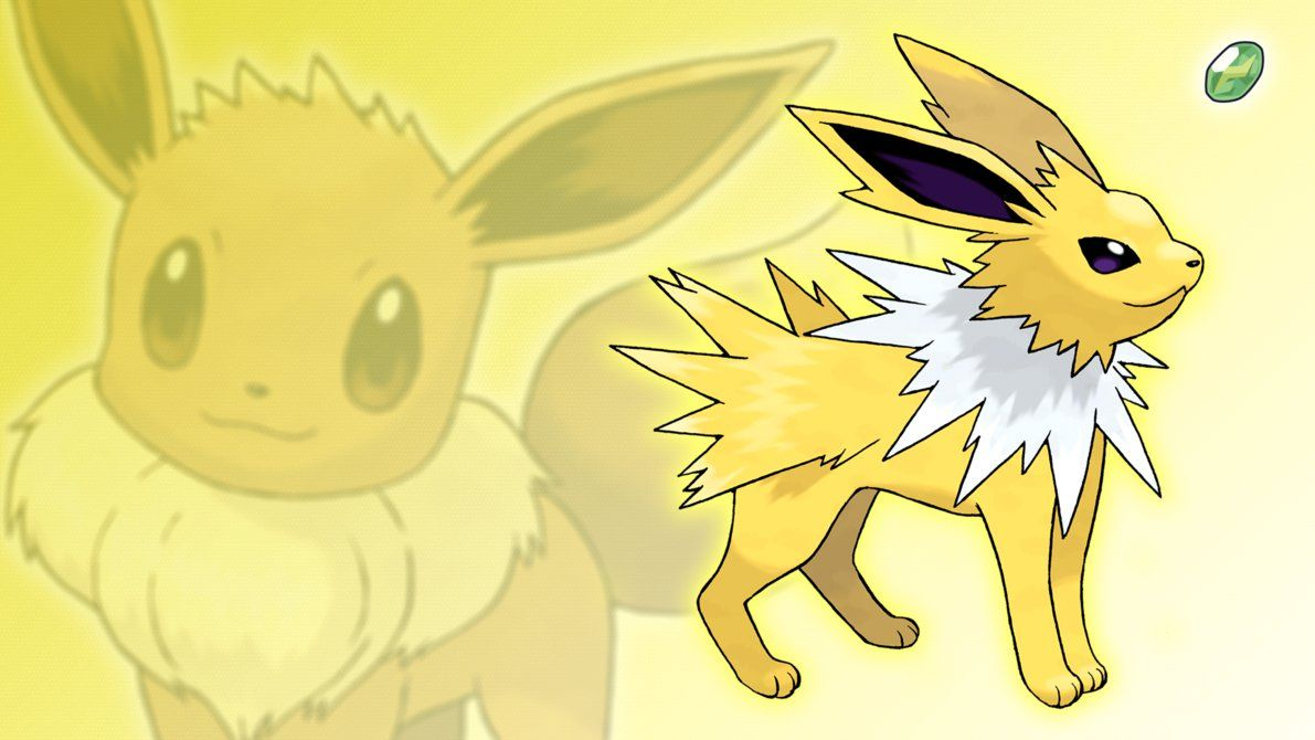 Eevee and Jolteon Wallpaper by Glench on DeviantArt