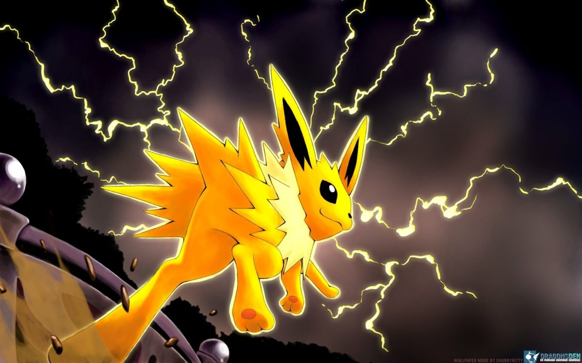 pokemon video games storm anime jolteon lighting jump game …