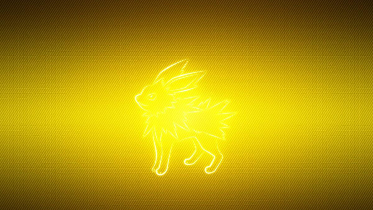 Download Wallpaper 3840×2160 Pokemon, Yellow, Black, Jolteon 4K …