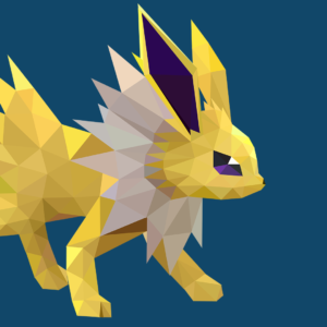 download Low-Poly Jolteon by pikachu-hat on DeviantArt