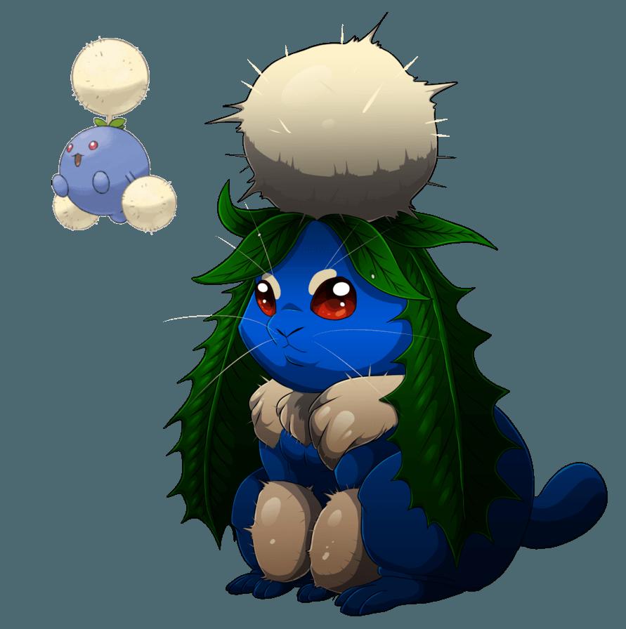 Jumpluff- The pluff bunneh by blueharuka on DeviantArt