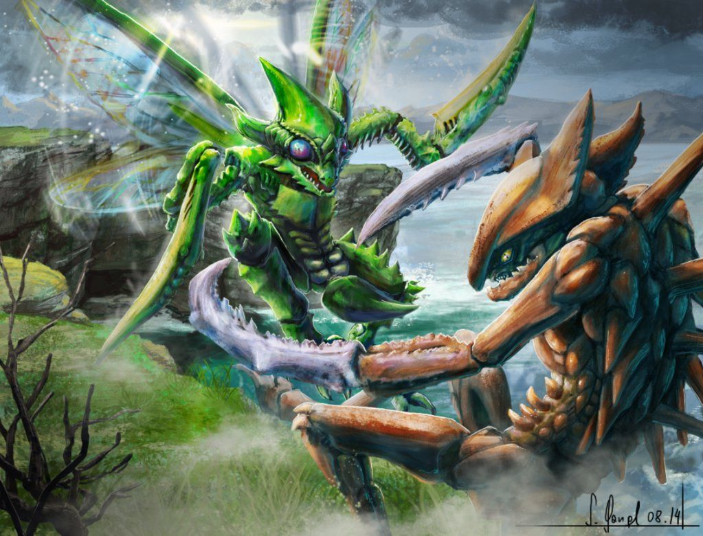 Pokemon fight – Kabutops VS Scyther by SimonGangl on DeviantArt