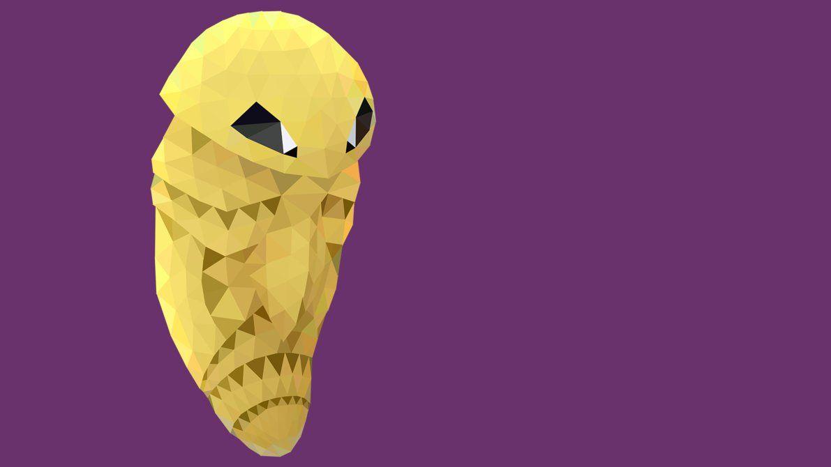 Low Poly Kakuna by pikachu-hat on DeviantArt