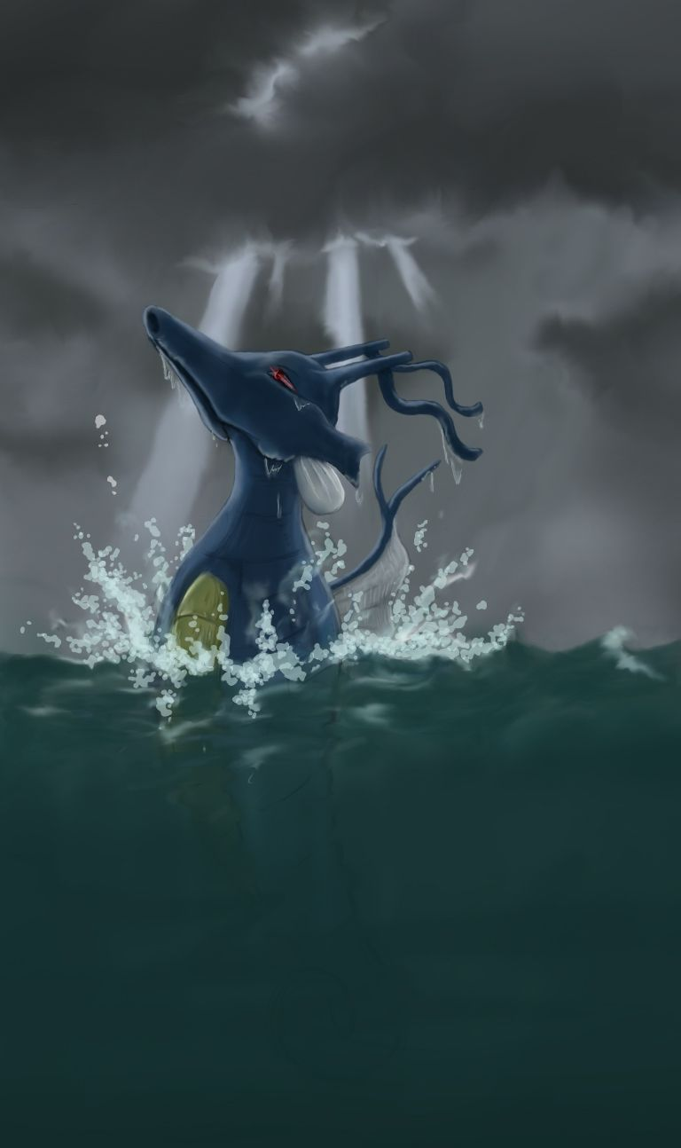 Kingdra…I would love it if you were real. Gorgeous artwork …