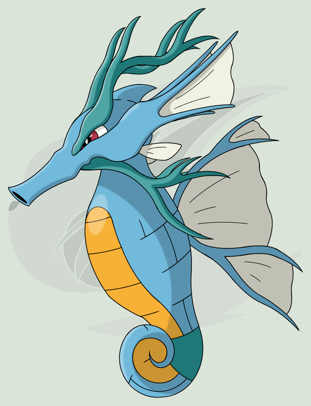 230 (Mega) Kingdra by RaiZhuW-The-Real.deviantart.com on @DeviantArt …