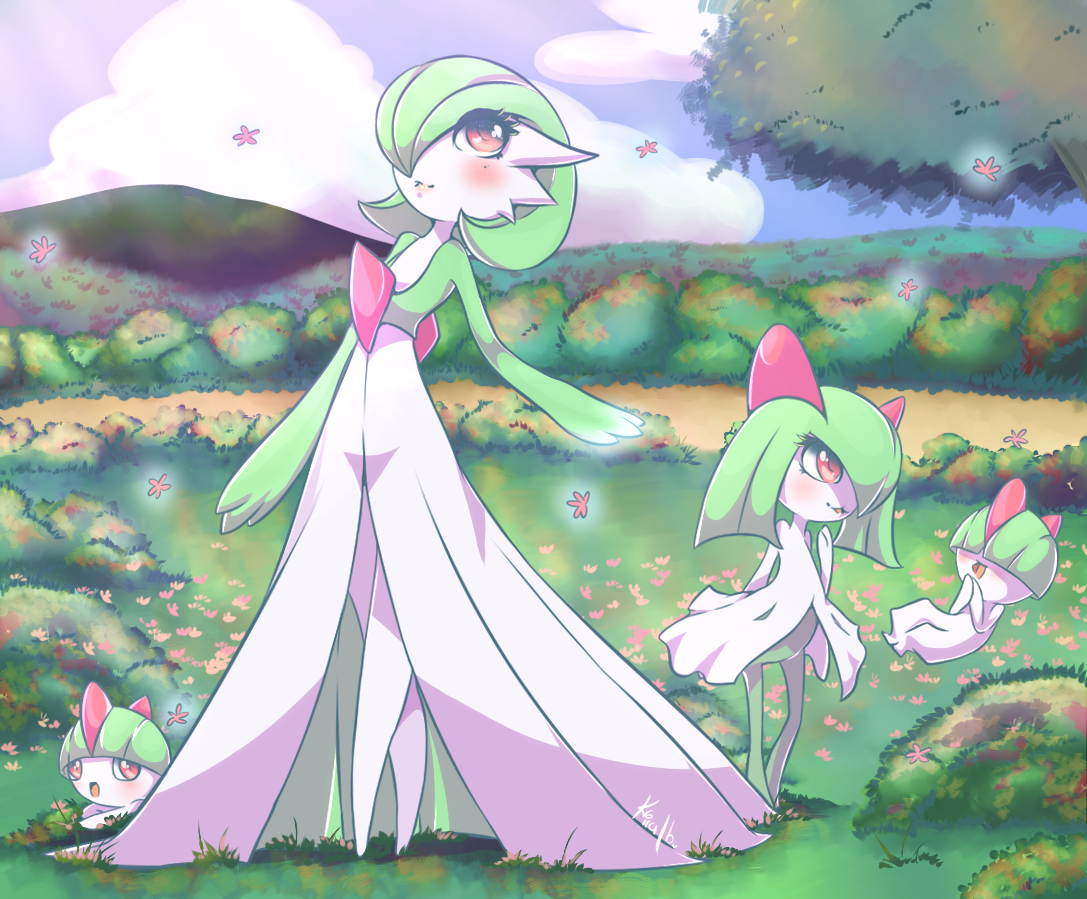 Pokemon Gardevoir, Kirlia and Ralts Source: www.facebook.com …