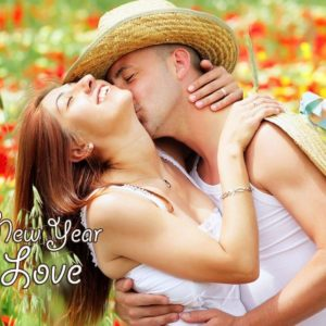 download happy new year 2016 kiss HD Wallpaper