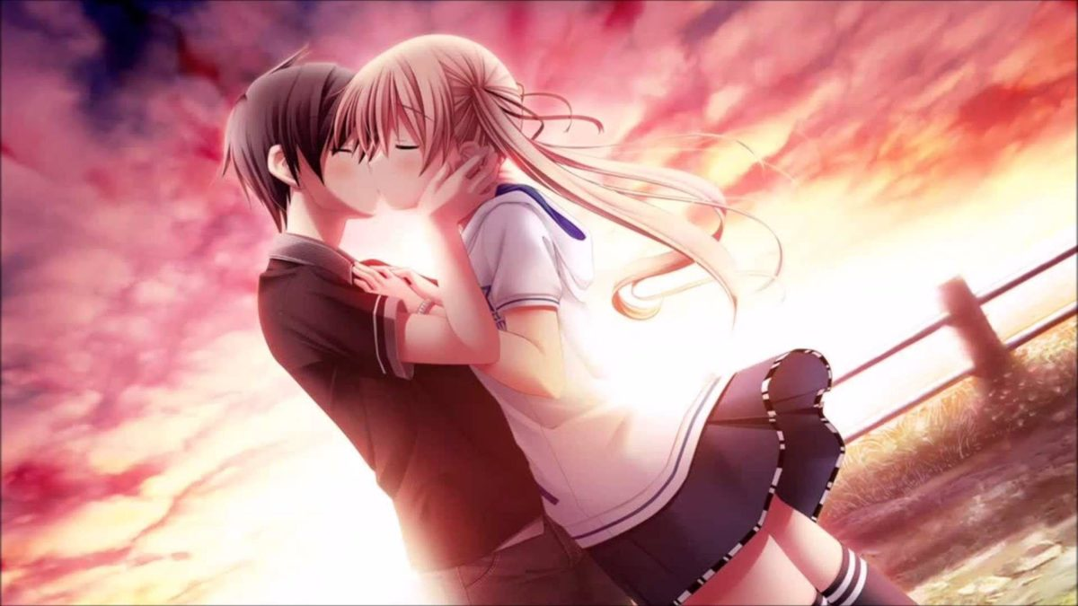 Love Kiss Of Cute Anime Couple HD Wallpaper – Wallpapers109 A Huge …