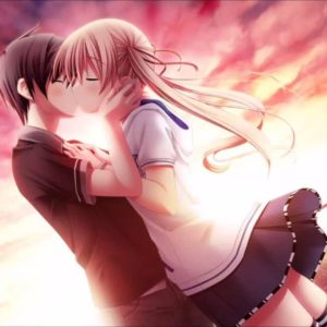 download Love Kiss Of Cute Anime Couple HD Wallpaper – Wallpapers109 A Huge …