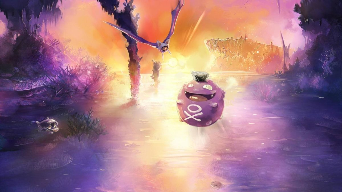 Pokemon landscapes koffing zubat wallpaper | (74171)