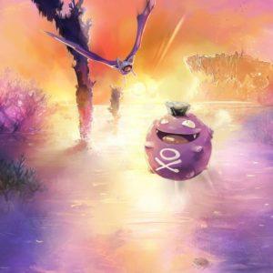 download Pokemon landscapes koffing zubat wallpaper | (74171)