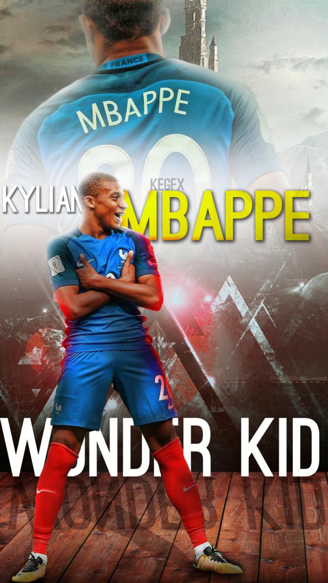 Kylian Mbappe Mobile Wallpaper by NewGenGFX on DeviantArt