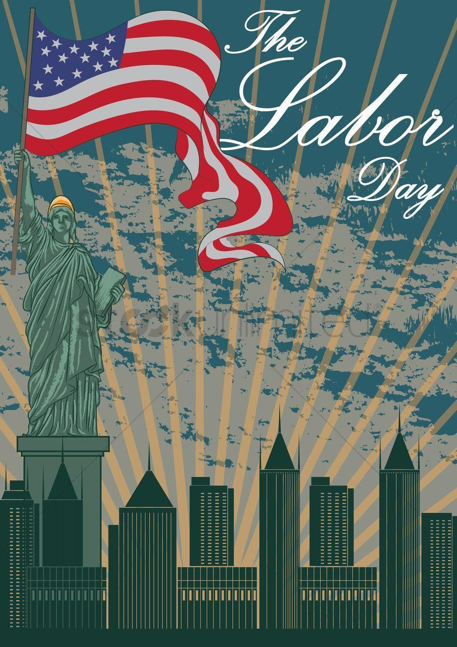 Happy labor day wallpaper Vector Image – 1525884 | StockUnlimited