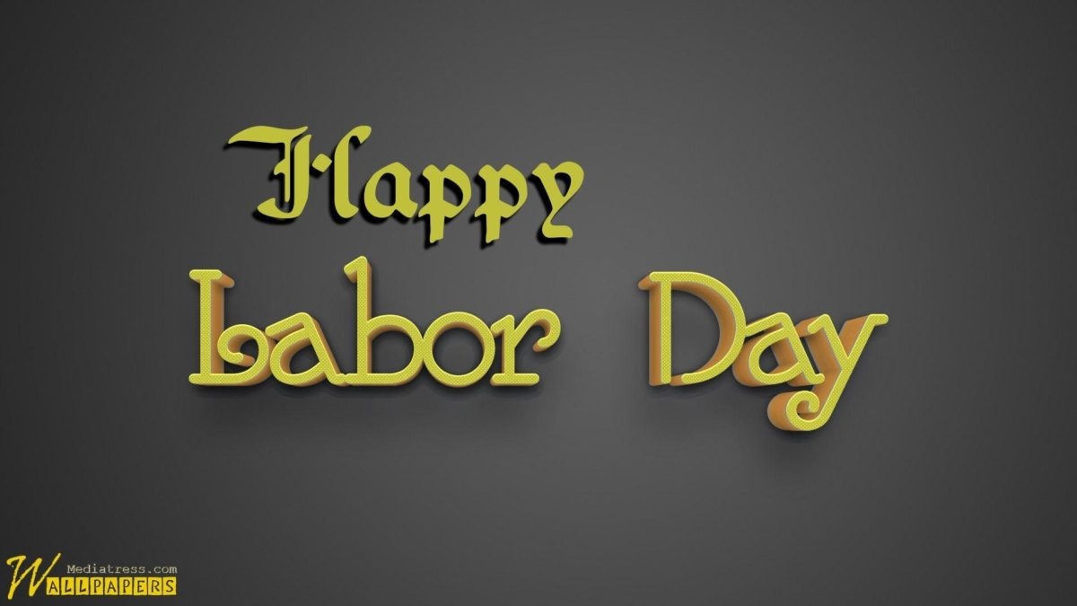 Labor Day 3D Text On Dark Background | MT-WallPapers