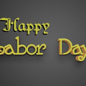 download Labor Day 3D Text On Dark Background | MT-WallPapers