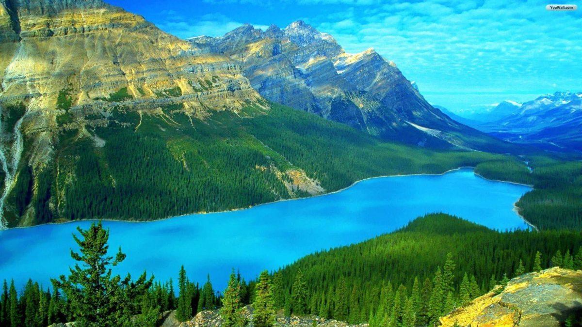 YouWall – Heavenly Blue Lake Wallpaper – wallpaper,wallpapers,free …