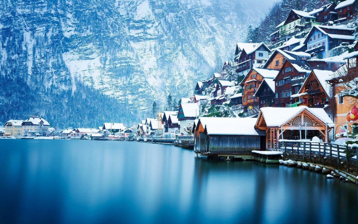 Hallstatt lake wallpaper HD background download desktop • iPhones …