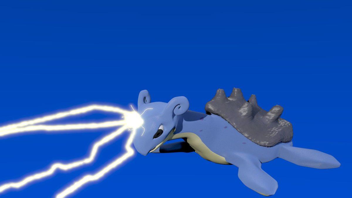 Lapras Used Thunderbolt by alewism on DeviantArt