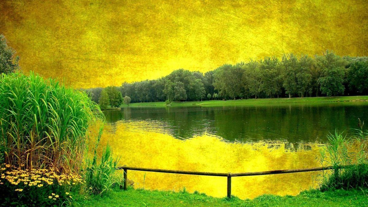 Landscape painting laptop 1366×768 | Free Background