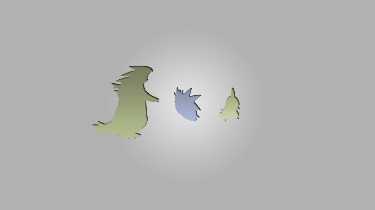 Tyranitar, Pokémon, Larvitar, Pokemon Second Generation, Minimalism …