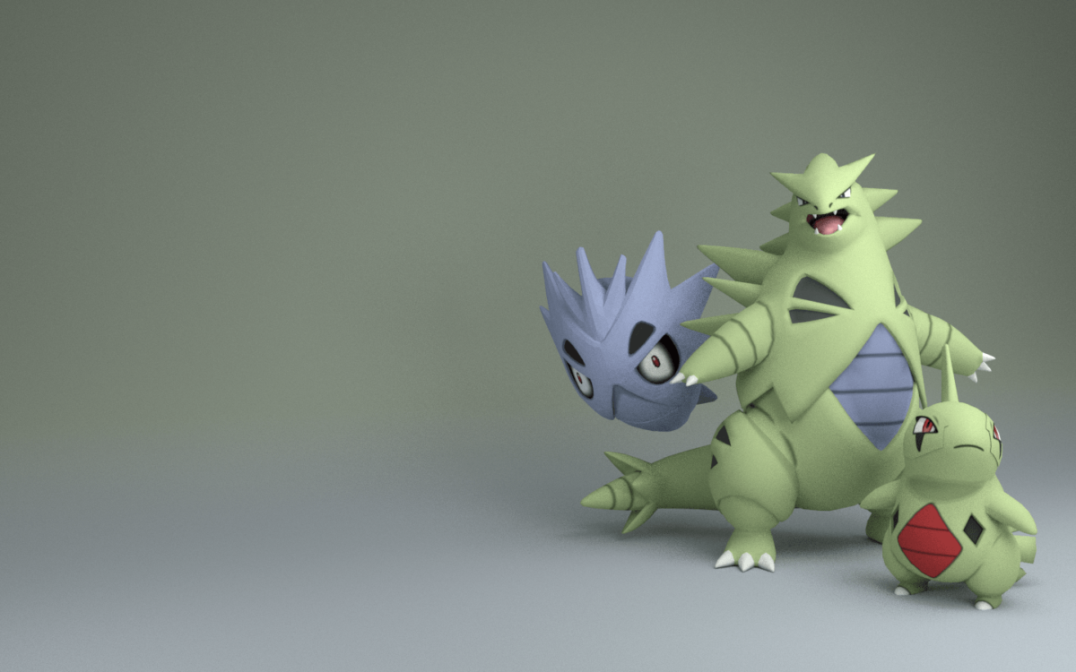 My First Render… Tyranitar Family! : pokemon