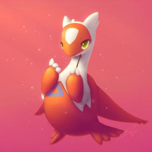 download Wallpaper Latias, Pokemon, Orange, HD, Creative Graphics, #12216