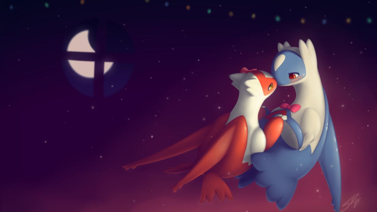 Wallpaper Latias, Latios, Pokémon, Christmas, Dance, 4K, Creative …