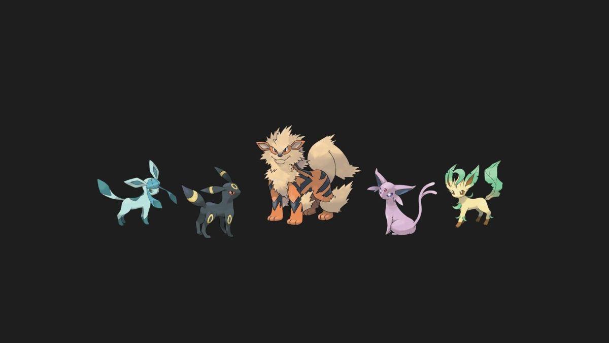 Pokemon espeon jolteon arcanine leafeon glaceon wallpaper | (124605)