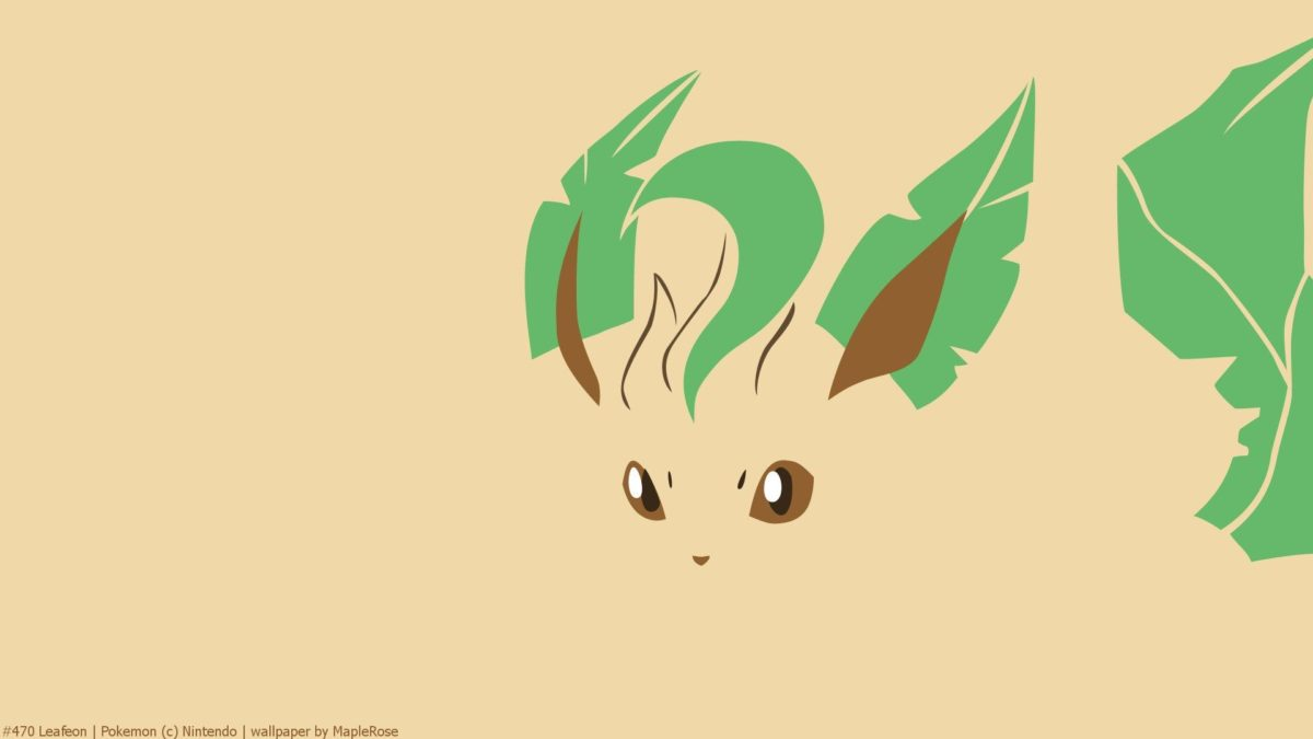 Eevee, Eeveelution, Leafeon, Minimal, Pokemon HD Wallpaper …