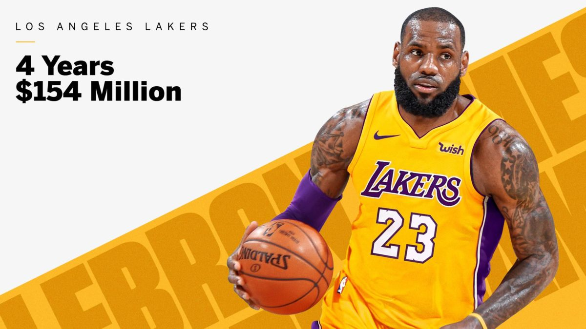 LeBron James Signs 4-Year, $154 Million Deal with the Los Angeles Lakers