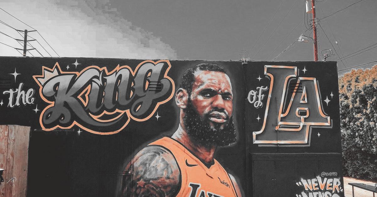 LeBron James Los Angeles Lakers own mural