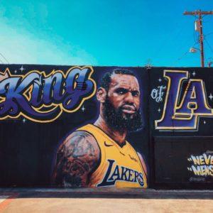 download Lebron James Lakers mural
