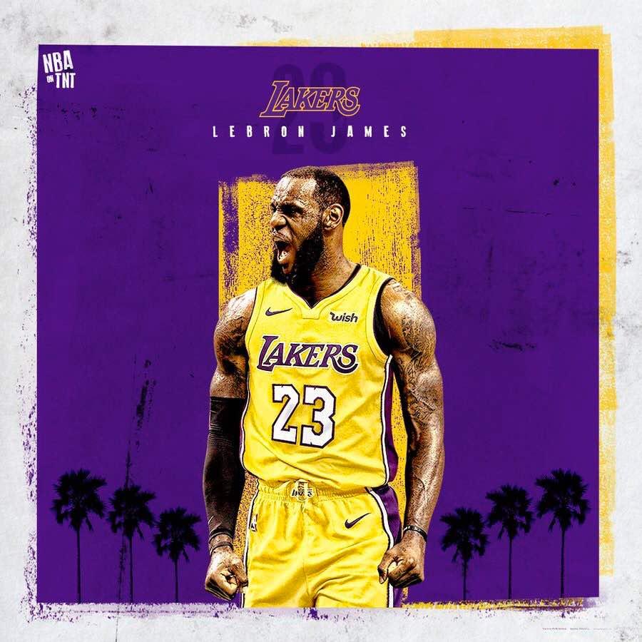 Lebron James Lakers 2018 TNT