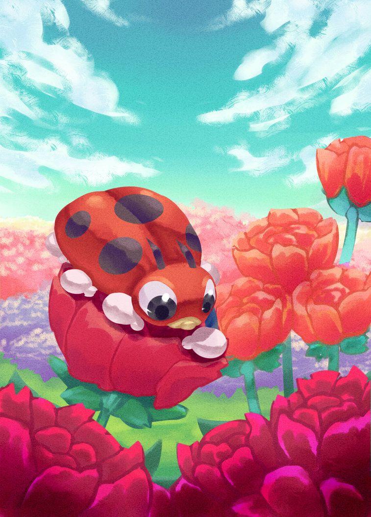 Day 16 – Ledyba (playing on roses *^*) by hiko-kujaku on DeviantArt