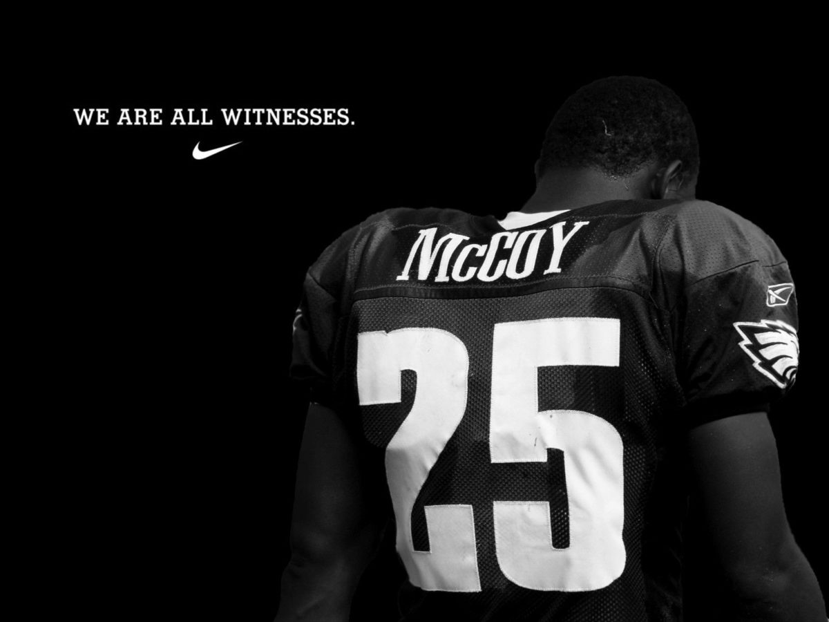 Here's a LeSean McCoy wallpaper I made in a photo-editing class I …
