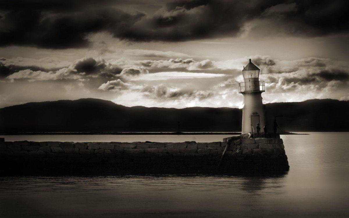 Art: Scotland Dark Lighthouse Beach Islands Hd Backgrounds …