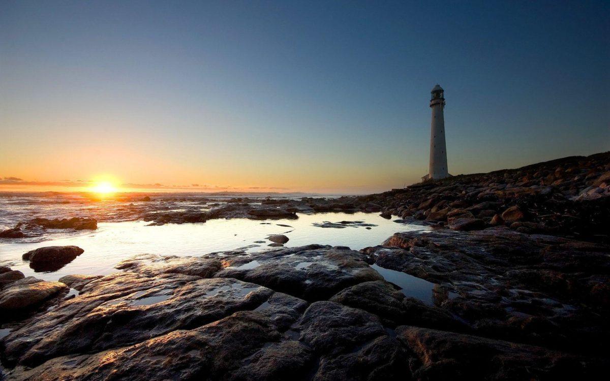 Wallpapers For > Lighthouse Summer Wallpaper