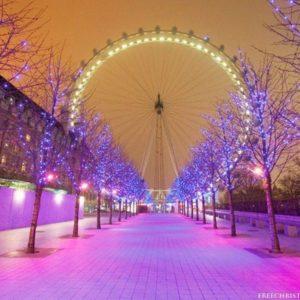 download Christmas London Eye Wallpaper