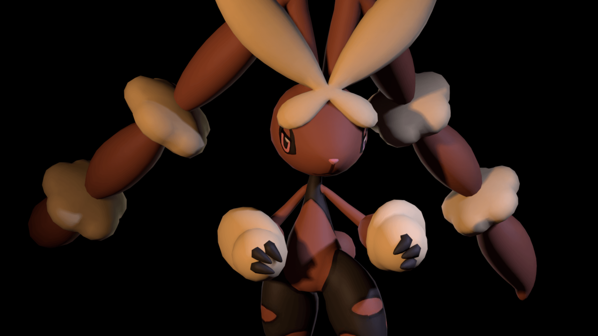 Mega Lopunny in ready stance | Source Filmmaker | Know Your Meme