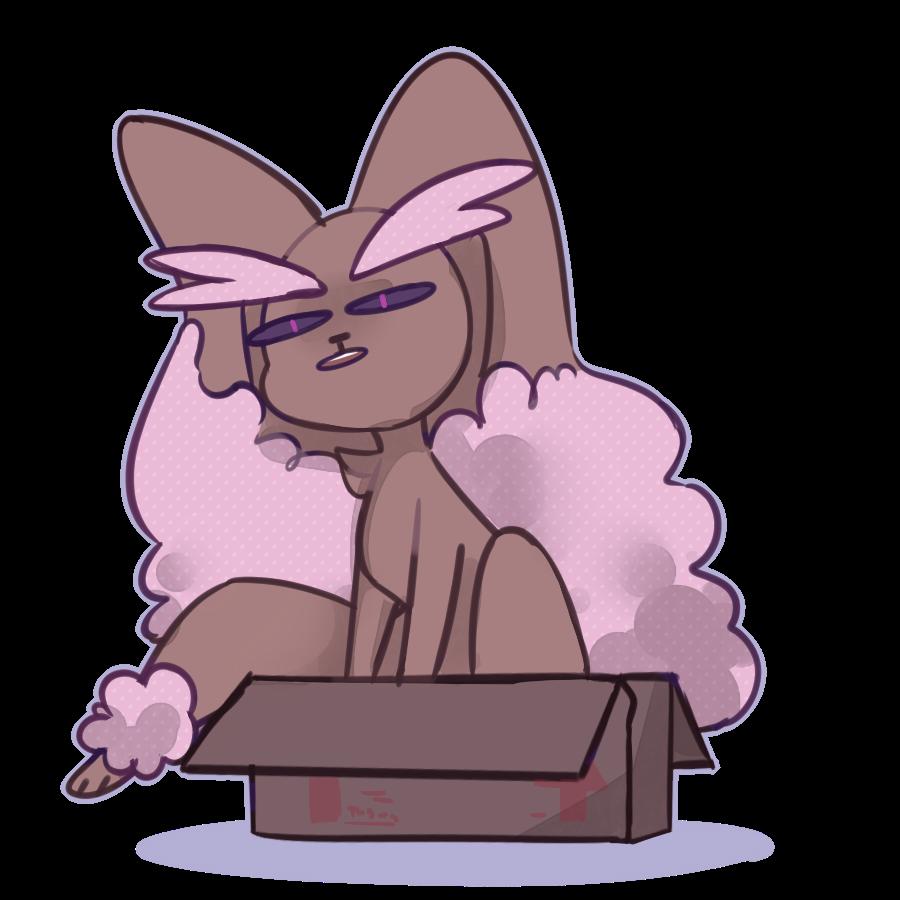 Shiny Lopunny in a box | Pokémon
