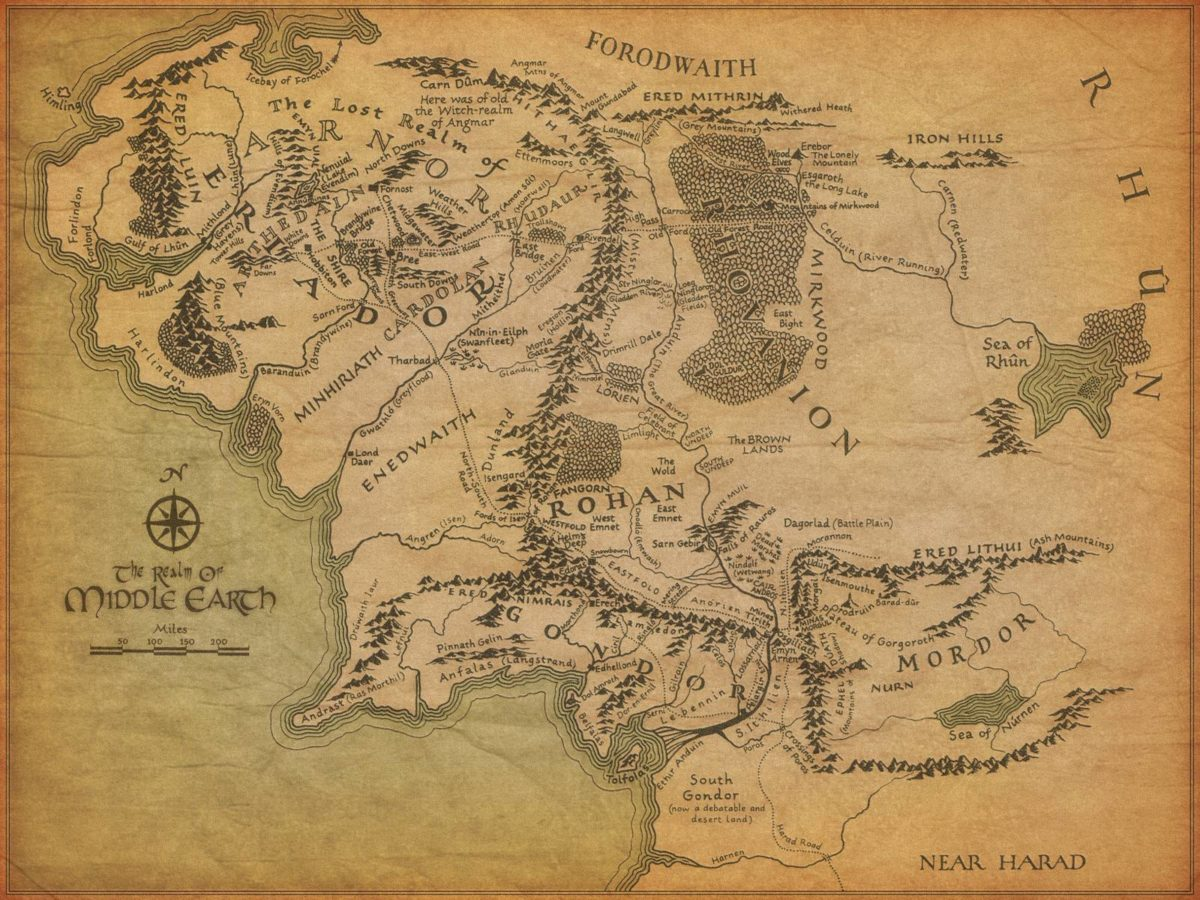 Map of Middle Earth – Lord of the Rings Wallpaper (2329809) – Fanpop