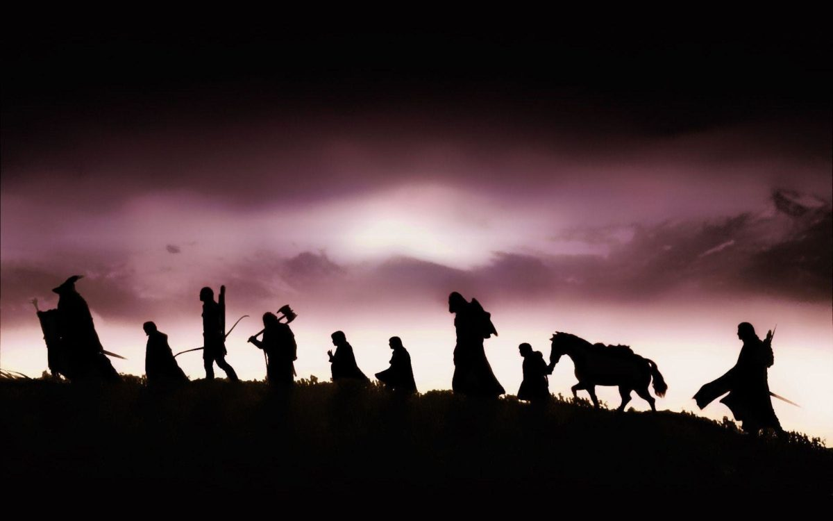 The Lord of the Rings characters silhouette Wallpaper #