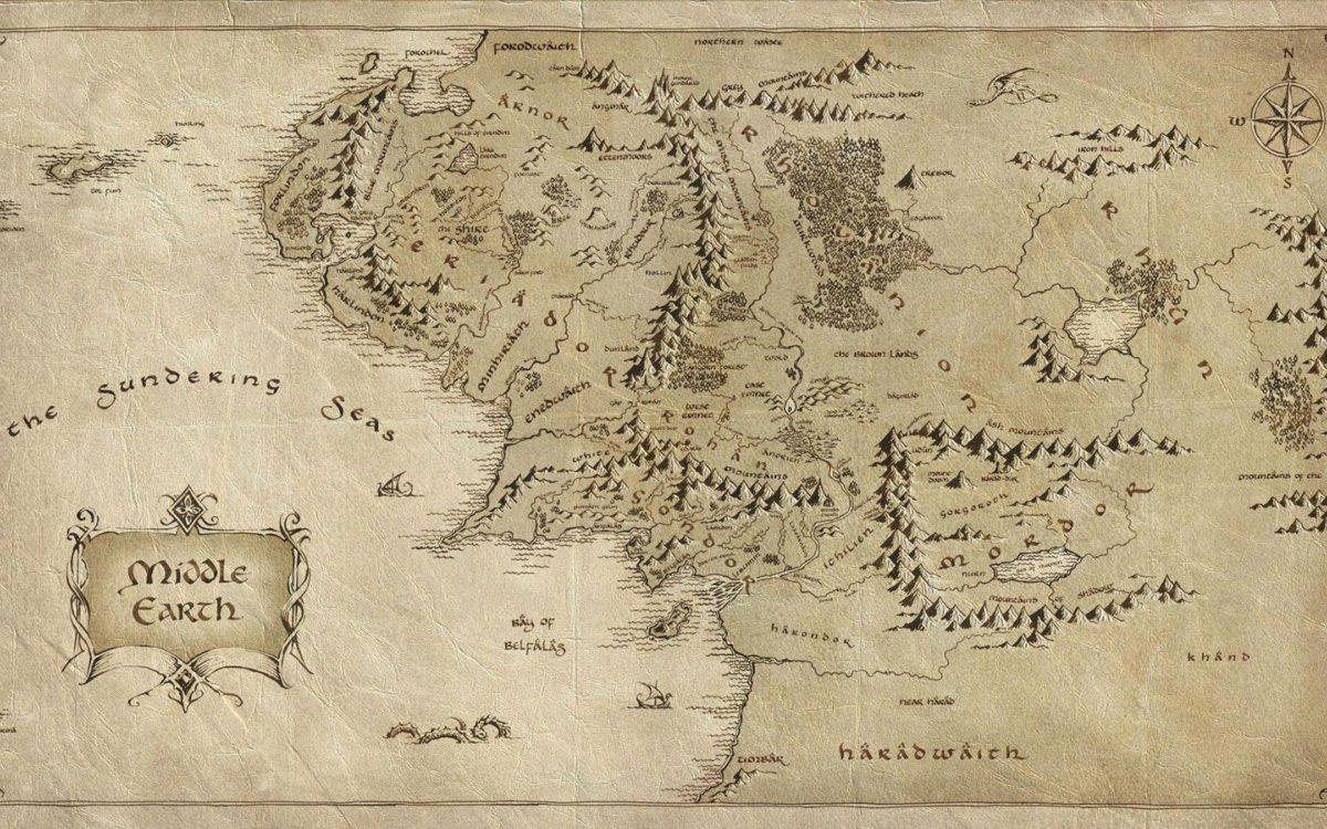 Lord of The Rings Map – HD Desktop Wallpaper | HD Wallpapers Source