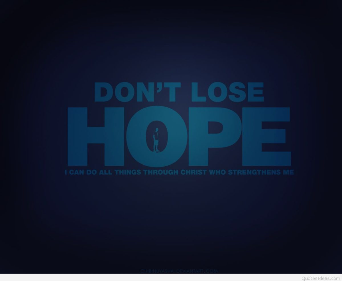 Don't lose hope wallpaper with quote