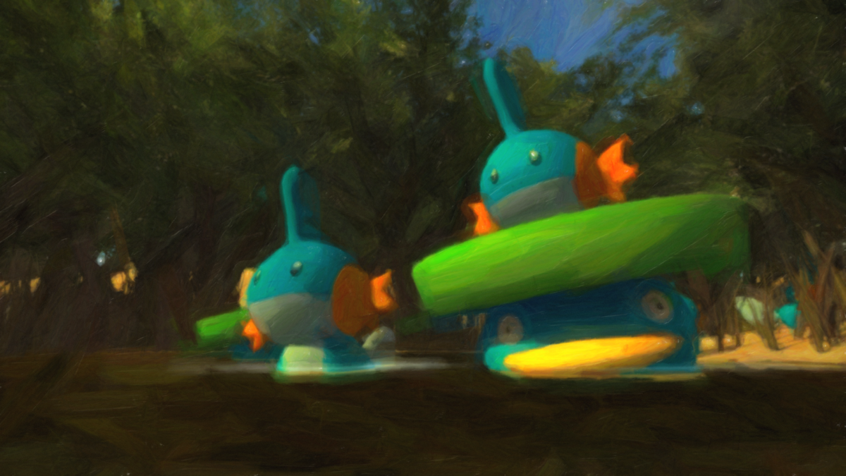 Mudkip and Lotad in the Sandbox 3 by jedi201 on DeviantArt