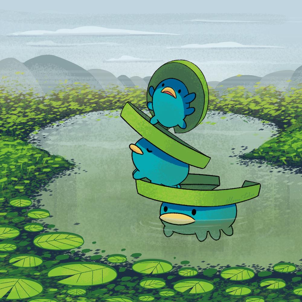 "gloriafelixart: "" Lotad Another pokemon drawing for a the pokedex …"